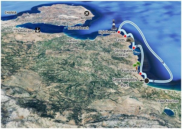 Boat Safari Map